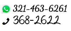 Domicilios al 3682622 o 321-463-6261