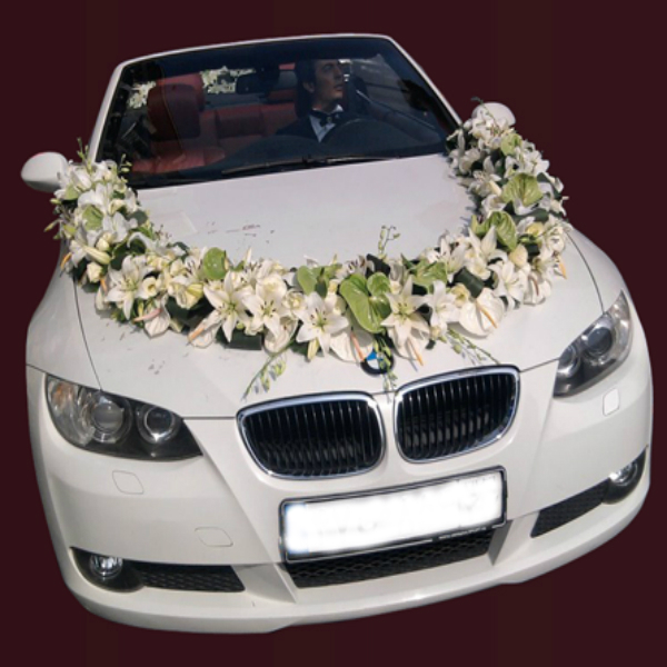 Irania florister a decoraciones de coches de boda irania florister a - Decoracion coche novia ...