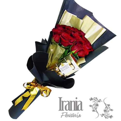 bouquet 24 rosas rojas iraniafloristeria