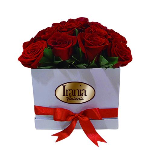 caja de 20 rosas rojas iraniafloristeria 001