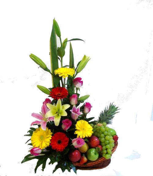 "97da5b5c25263 diseño flores con frutas.irania floristeria. """