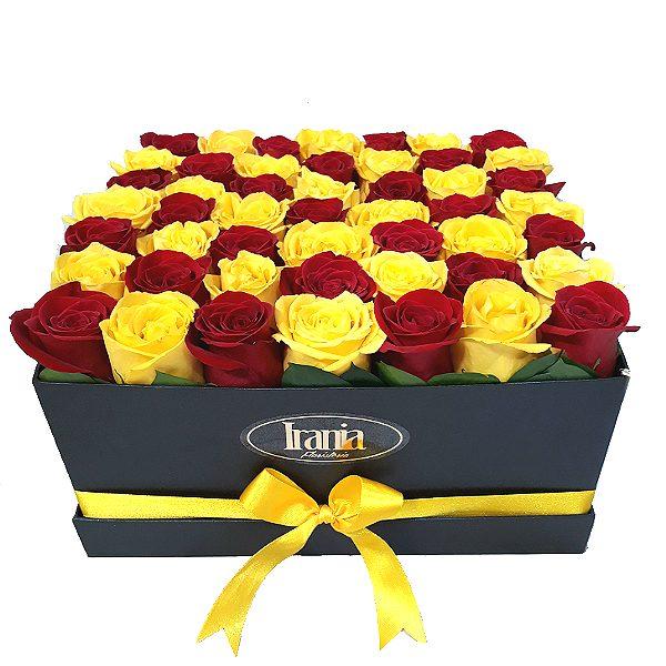 rosas en caja irania floristeria bogota